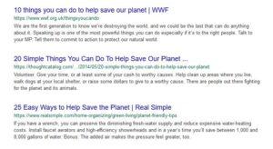 ecosia searches